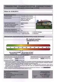 certyfikat energetyczny kwaśniów